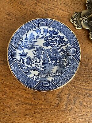 Arklow Republic Of Ireland Small Trinket Plate 'Willow' Style Blue Collector • 13£
