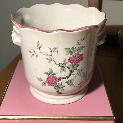 Royal Winton Pottery - Ironstone - Ceramic Plant Pot (Pink Flower Design) • 11.50£