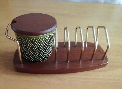Lord Nelson Pottery Jam Pot And Toast Rack With Wyncraft Base  • 9.99£
