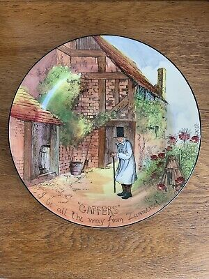 Vintage Royal Doulton Gaffers Plate 'All The Way From Zummerset' Collector • 30£