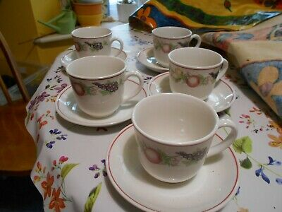 Boots Orchard-set Of 5 Cups And 6 Saucers • 17.95£