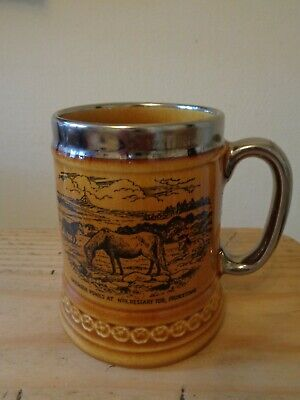 Vintage Lord Nelson Pottery Tankard 'dartmoor Ponies Princetown' • 10£