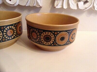 Vintage 1970's Retro Crockery Small Cereal Bowl  Bacchus Kiln Craft Wow! • 5.99£