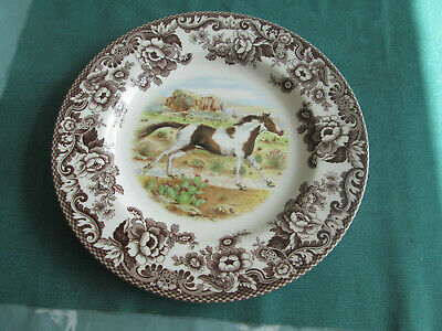 Spode Woodland Paint Horse Large Dinner Plate New • 35£