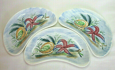 Vintage MASONS 'SOUTH SEAS' - Hand Painted Crescent Dishes / Bowls X 3 • 14.99£
