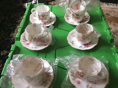 Royal Crown Derby-Derby Posies-6 Coffee Cups And Saucers Vgc 1st Quality 1969 • 20£