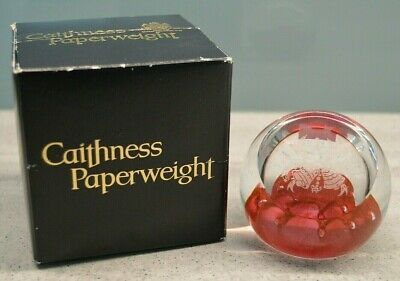 Caithness Calibrations Paperweight 40th Wedding Anniversary Clear & Red Boxed • 9.99£