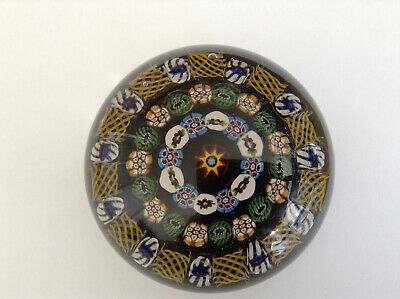 Classic Scottish Ysart Millefiori Art Glass Paperweight • 250£
