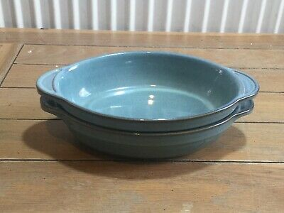 Pair Of Denby  Regency Green  Oval Bowls, England • 15£