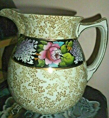 Very Nice Antique  Colourful Jug From Grimwades - Winton • 6£