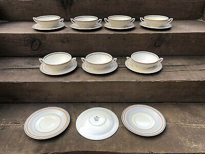 Vintage Collectable Crown Ducal Pottery China Soup Bowl And Plate Set • 12.99£