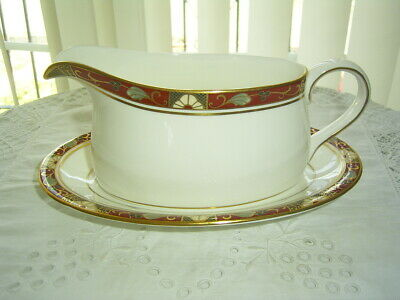 Royal Crown Derby Cloisonne Gravy / Sauce Boat And Stand • 49.99£
