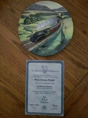 Royal Doulton - Collectors Plate  Sunshine & Steam  Past Green Fields Plate • 4.99£