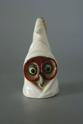 Early 1896 Royal Worcester Puce Mark Hooded Owl Candle Snuffer Extinguisher  • 100£