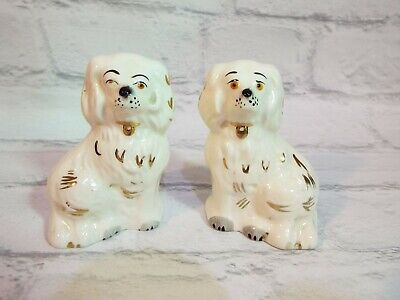 Vintage Beswick China Fireside Mantle Wally Staffordshire Spaniel Dogs 4  1376-7 • 19.99£