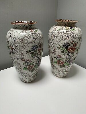 Pair Of Vintage Bayeux Imperial Semi Porcelain Myott Son & Co Vases • 8.99£