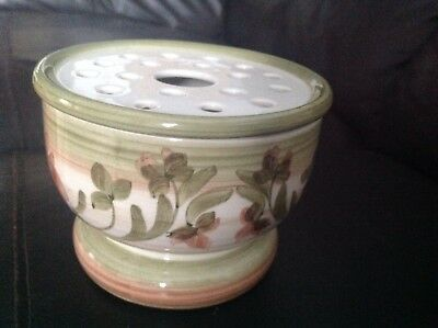Vintage Jersey Pottery Pot Pourri / Rose Bowl  Flower Display Bowl  • 14£