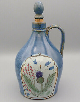 Vintage Buchan Scottish Stoneware Scotch Thistle Oil Vinegar Stoppered Jug • 25£