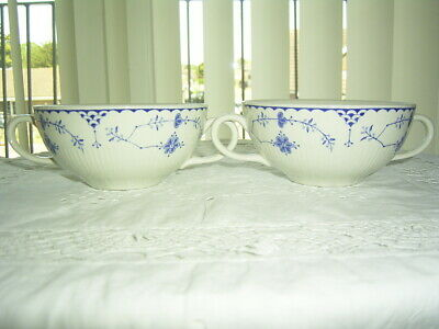 2 Mason's Johnson Brothers, Furnivals Blue Denmark Soup Bowls    • 19.99£