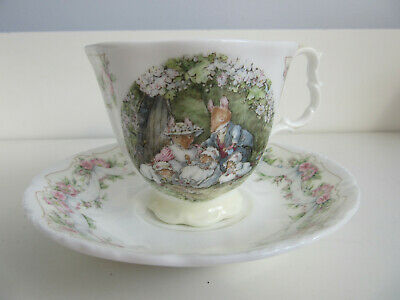Royal Doulton Brambly Hedge Poppies Babies Cup And Saucer • 75£