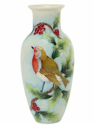 Old Tupton Ware British Birds Robin Vase 8.5  TW7949 • 35.99£