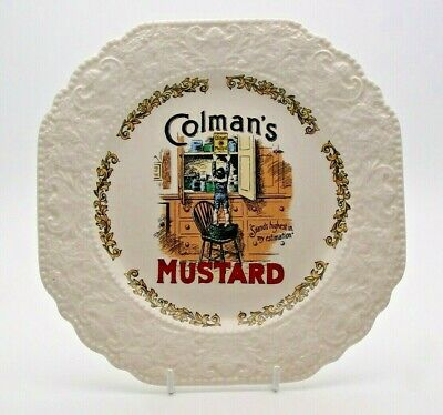Vintage Advertising Lord Nelson Pottery 'colman's Mustard' Plate - Perfect • 9.99£