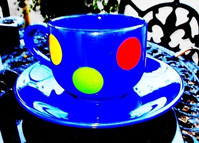 WADE Colourful Large Breakfast Cup & Saucer Ex Condition • 5£