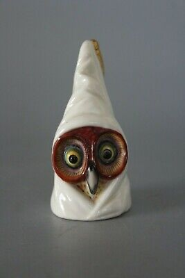 Early 1896 Royal Worcester Puce Mark Hooded Owl Candle Snuffer Extinguisher  • 130£
