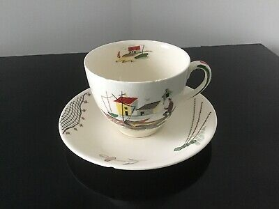 Alfred Meakin Tea Cup And Saucer Brixham Fisherman Retro Vintage Collectable • 7£