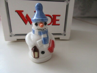 Wade Snowman Whimsie  Blue Hat  Boxed Perfect • 3.99£