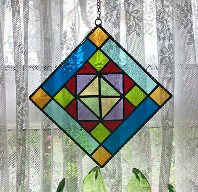 Stained Glass Panel,Quilters Pattern Suncatcher Panel • 38£
