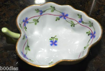 Herend Porcelain Dish Trinket Tray Bowl Blue Forget-me-knot Hand Painted • 135£
