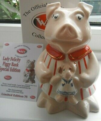 Wade NATWEST Cousin Pig FELICITY Money Box Piggybank Limited Edition Paul CARDEW • 135£