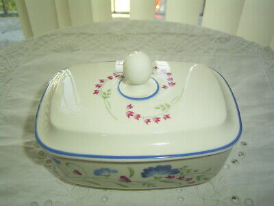 Royal Doulton Windermere Expressions Lidded Butter Dish First Quality • 9.99£