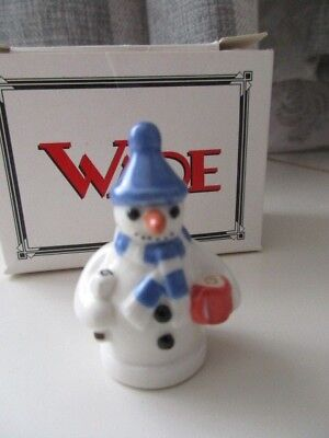 Wade Snowman Whimsie  Blue Hat  Boxed And Perfect • 3.99£