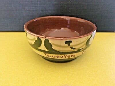 Devon-ware Motto Bowl  Sweeten To Your Liking  No Chips/cracks Probably Watcombe • 4.99£