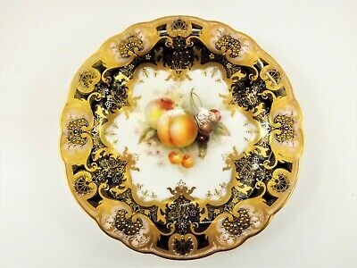 Stunning Antique Royal Worcester Fruit Painted Plate Signed S Seright 1918  R/9 • 110£