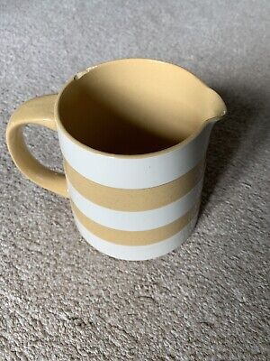 Vintage TG Green Cornishware By Judith Onions - Milk Jug Gold And White • 7.99£