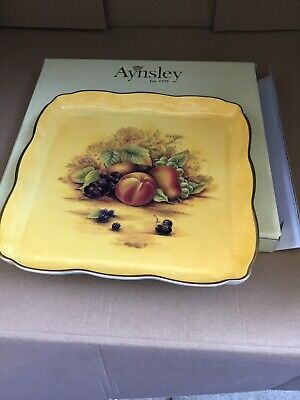 Aynsley Orchard Gold Square Tray • 15£