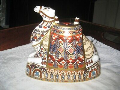 Large Royal Crown Derby Imari Camel Paperweight 17 Cm High • 179.99£