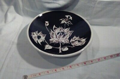 Vintage Jersey Pottery Bowl, Perfect Condition 24.5 Cms Across • 12.50£