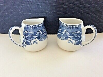 Two Individual Cream Jugs H Aynsley & Co Mid-20th Century No Chips/cracks • 4.99£