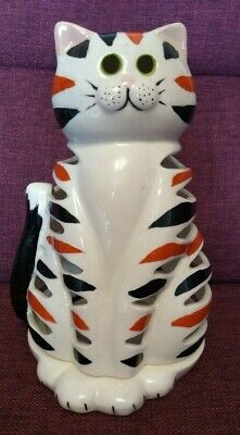 Gladstone Pottery Museum Candle Holder Cat By Carol Everall • 6.99£