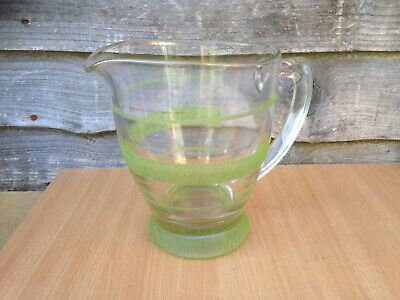 Frosted Glass Lemonade Jug Water Jug Vintage Retro  • 4.99£
