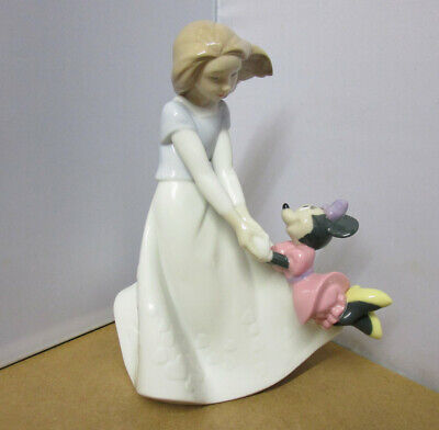 Lladro NAO Disney Figurine  FRIENDS WITH MINNIE MOUSE   Model 1643    MINT  • 21£