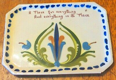 Early Torquay Pottery Scandy Design Large Motto Ware Dressing Table Tray • 10.50£