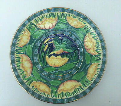 Vintage Art Deco Newhall Pottery Charger Kingfisher Pattern C 1930 L BOULLEMIER • 19.99£