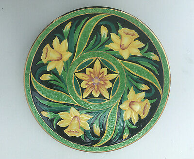 Vintage Art Deco Newhall Pottery Charger Daffodil  Pattern C 1930 L BOULLEMIER • 19.99£