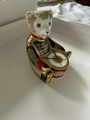 Royal Crown Derby Paperweight Large Drummer Teddy • 31£