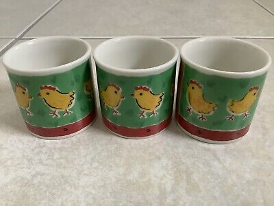 Dunoon Farmyard Eggcups X 3 Never Used • 6£